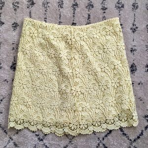 Zara Yellow Lace Skirt